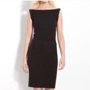 DVF Kimmie Black Sleeveless Sheath Dress 8